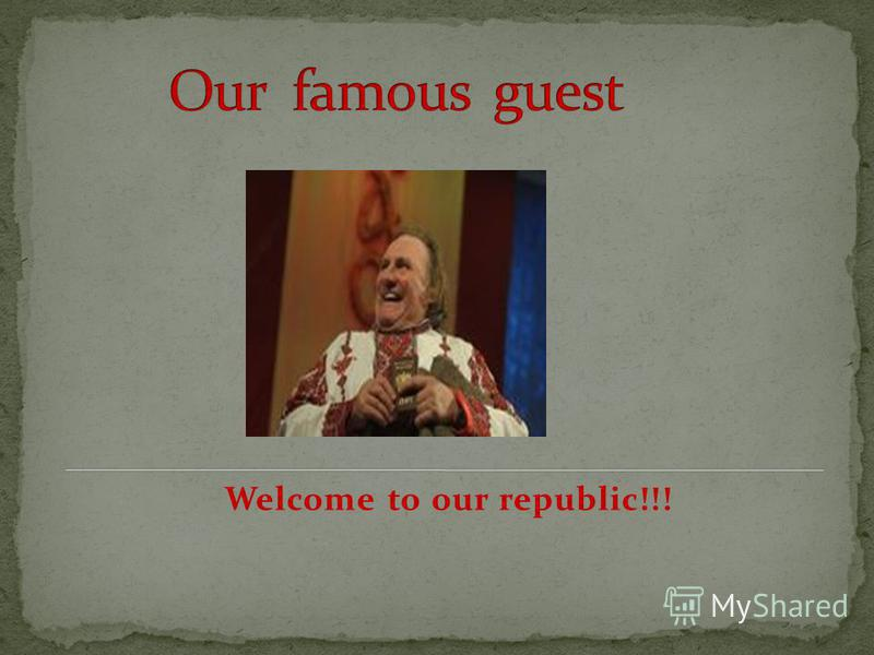 Welcome to our republic!!!