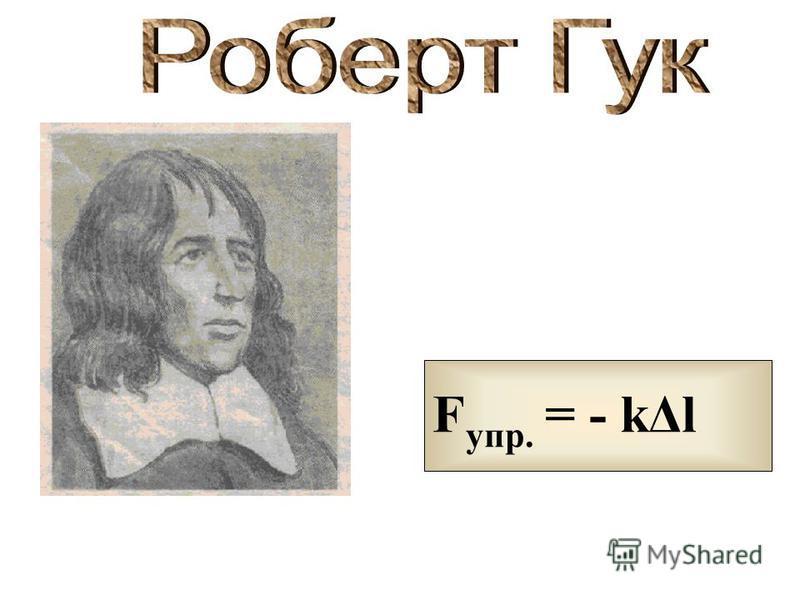 F упр. = - kΔl