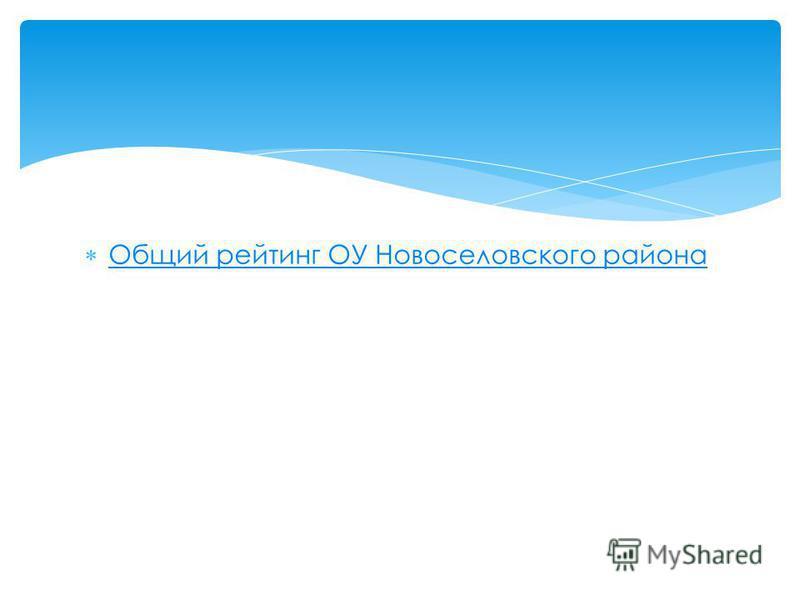Общий рейтинг ОУ Новоселовского района