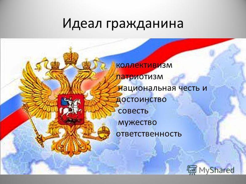Идеал гражданина коллективизм патриотизм национальная честь и достоинство совесть мужество ответственность