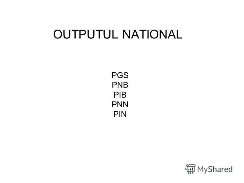 OUTPUTUL NATIONAL PGS PNB PIB PNN PIN