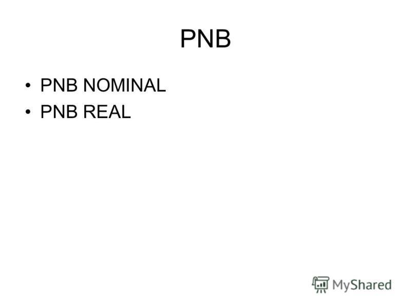 PNB PNB NOMINAL PNB REAL