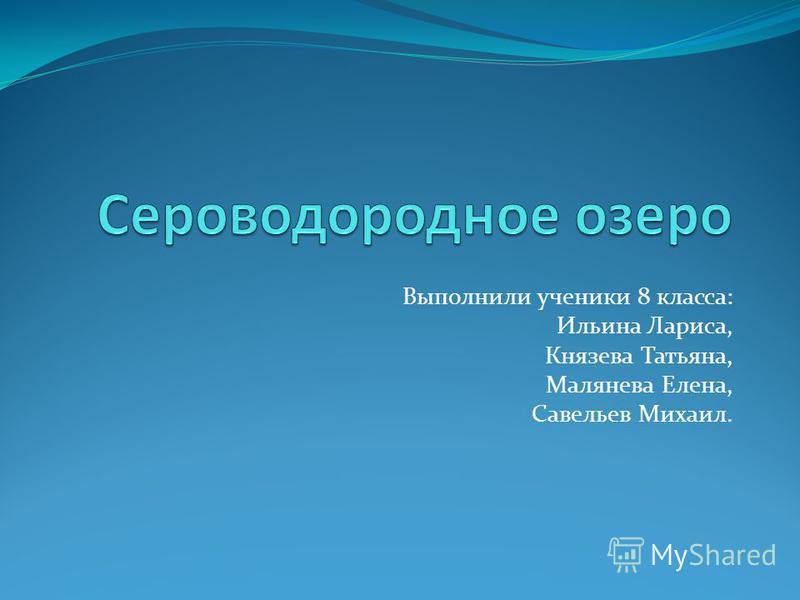 Выполнили ученики 8 класса: Ильина Лариса, Князева Татьяна, Малянева Елена, Савельев Михаил.
