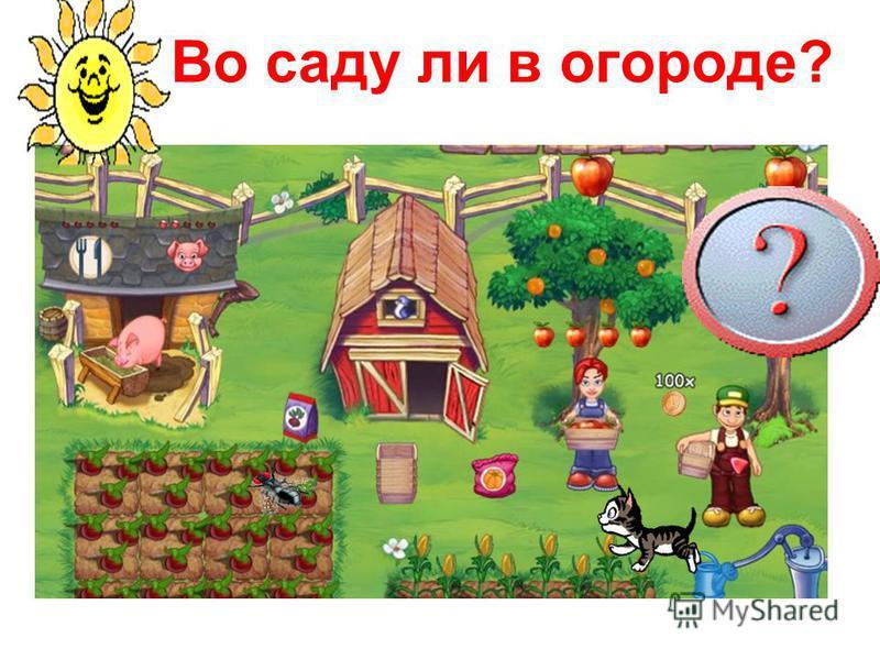 Во саду ли в огороде?