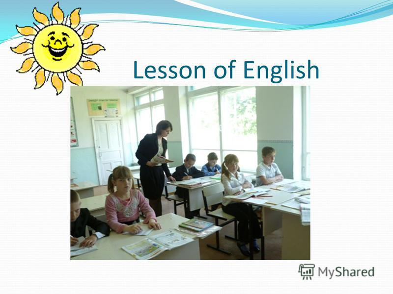 Lesson of English