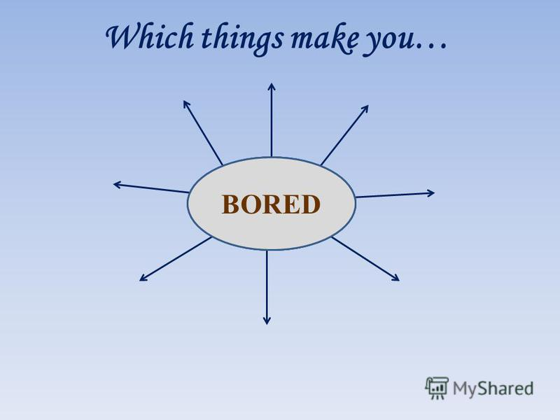 Which things make you… HAPPYSAD BORED