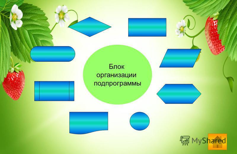 Блок организации подпрограммы