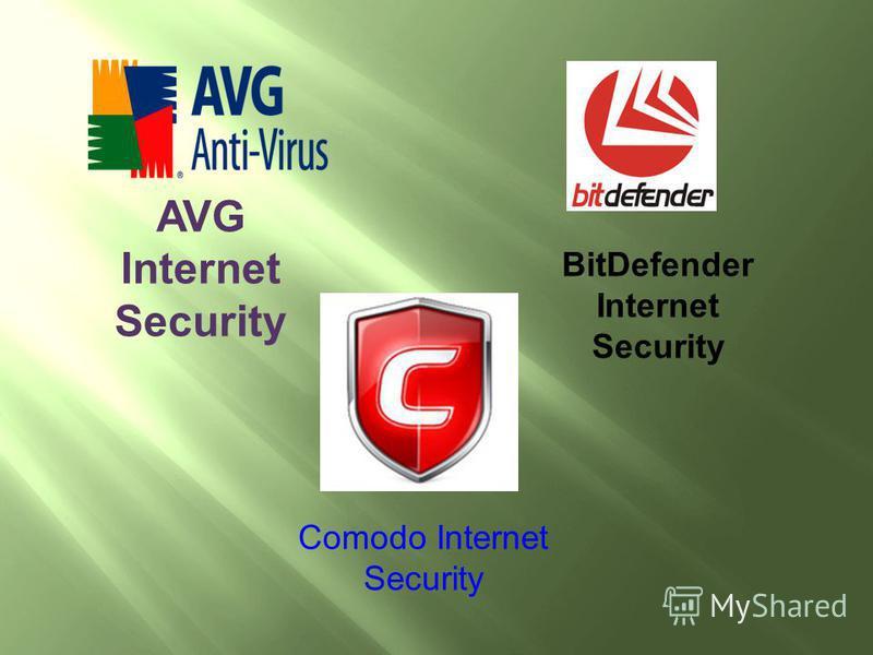 AVG Internet Security BitDefender Internet Security Comodo Internet Security