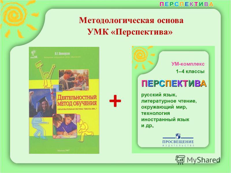 Методологическая основа УМК «Перспектива» УМ-комплекс 1–4 классы : ПЕРСПЕКТИВА русский язык, литературное чтение, окружающий мир, технология иностранный язык. и др. +