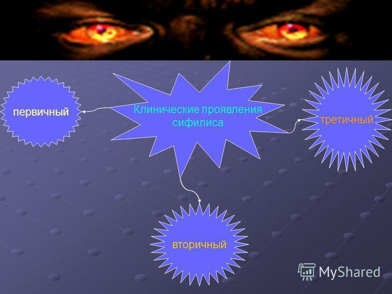 Клинические проявления сифилиса третичный вторичный первичный