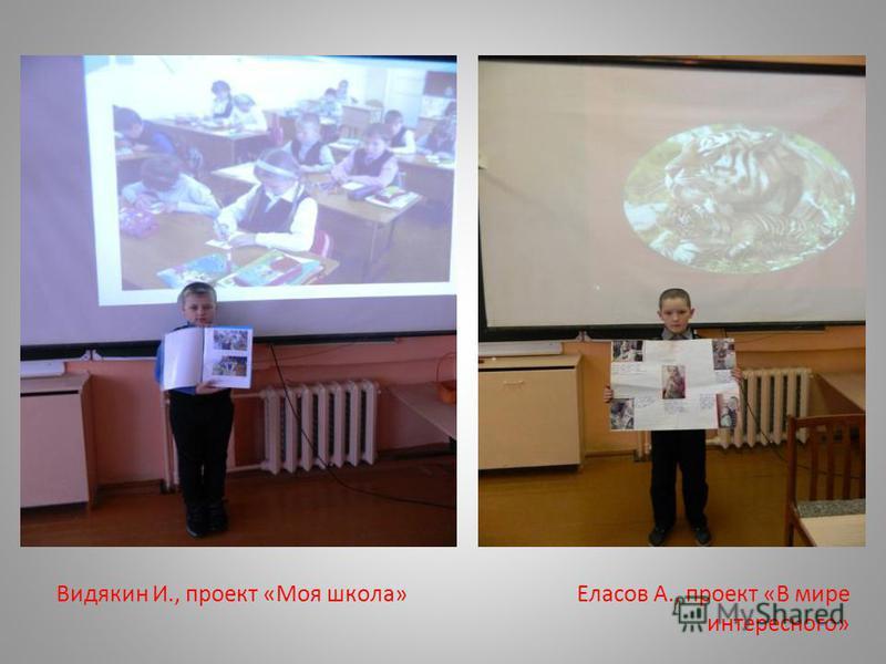 Видякин И., проект «Моя школа» Еласов А., проект «В мире интересного»