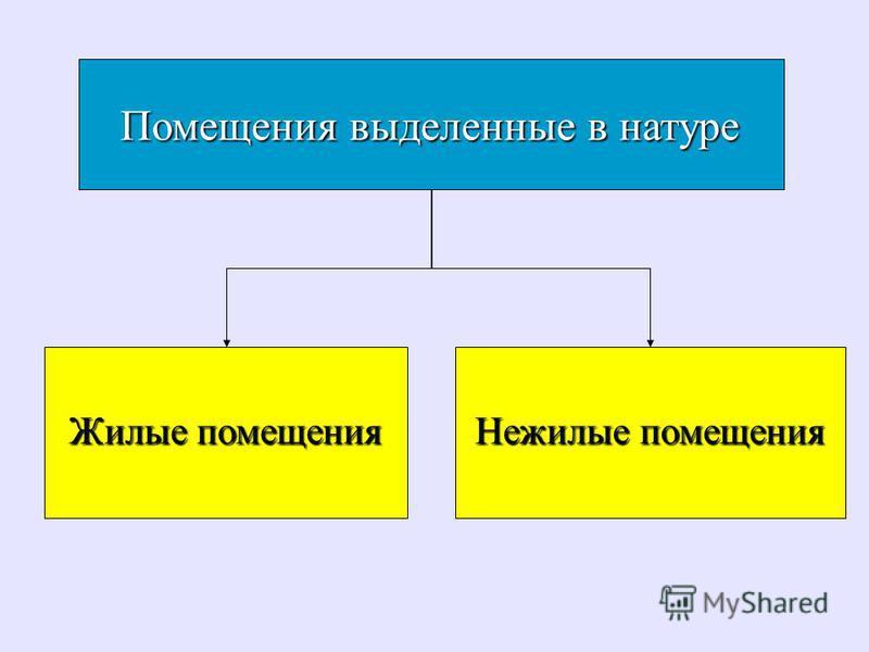 Помещения выделенные в натуре Помещения выделенные в натуре Жилые помещения Жилые помещения Нежилые помещения Нежилые помещения