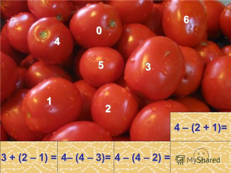 2– (4 – 3)= 2– (4 – 3)= 4 – 2 + 1 = 4 – 2 + 1 = 4 – (4 – 2) = 0 + 4 – 3 = 3 + (4 – 1) = 4 – (2 + 1)= 3 – 2 + 3 = 4 – 4 + 3 = 4 – 4 + 3 = 3 + 1 – 2 = 1 + 2 + 1 = 2 3 3 0 5 4 5 4 1 3 1 0