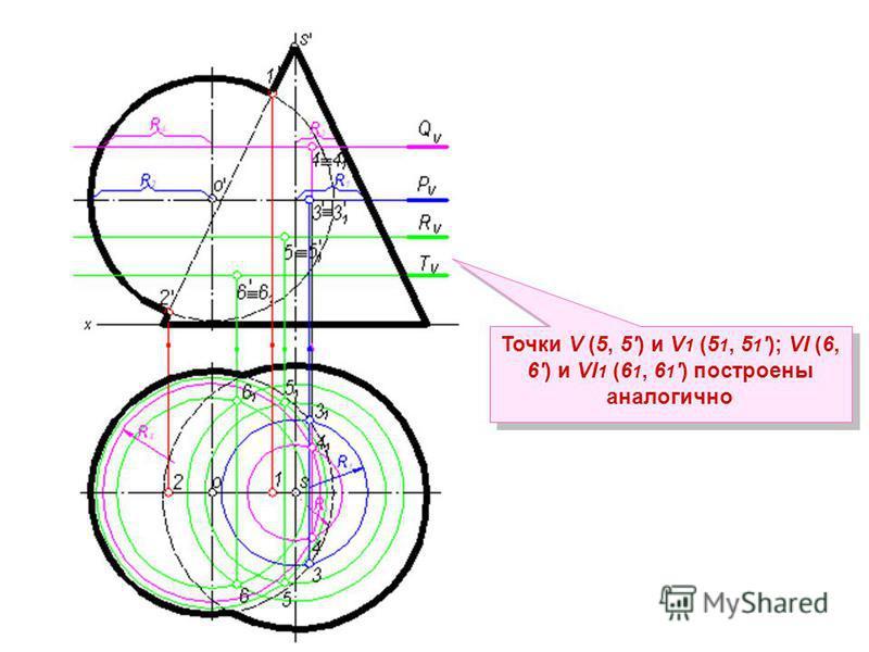 Точки V (5, 5) и V 1 (5 1, 5 1); VI (6, 6) и VI 1 (6 1, 6 1) построены аналогично
