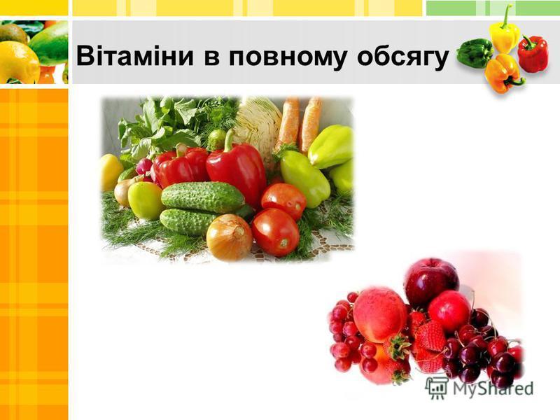 Вітаміни в повному обсягу