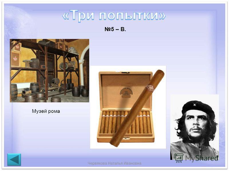 Червякова Наталья Ивановна Музей рома 5 – В.