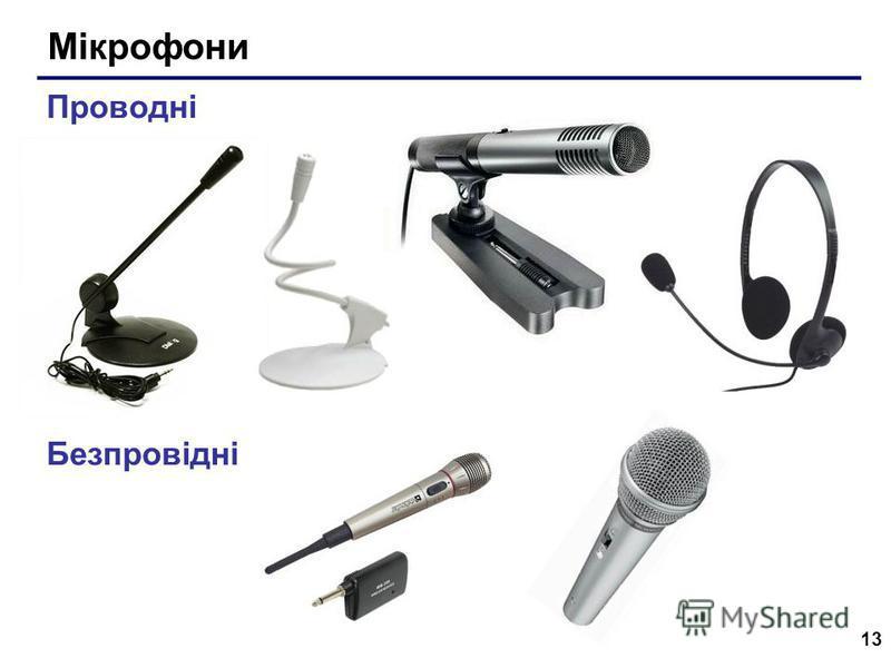 13 Мікрофони Проводні Безпровідні