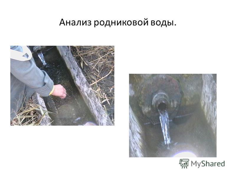 Анализ ррродниковой воды.