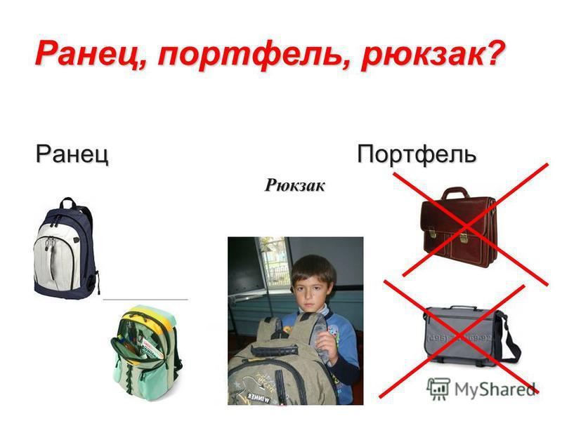 Ранец, портфель, рюкзак? Ранец Портфель Ранец Портфель Рюкзак Рюкзак