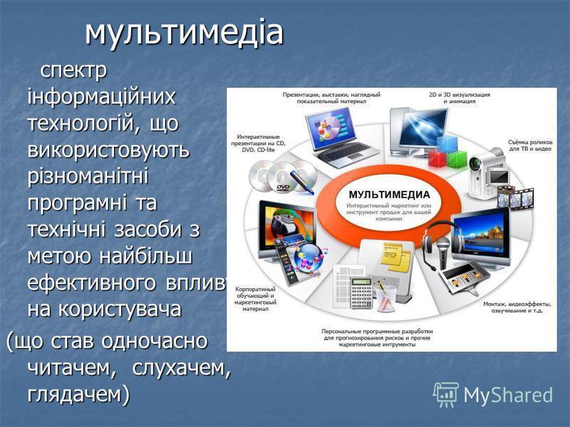 Мультимедійні технології, є на сьогоднішній день найбільш