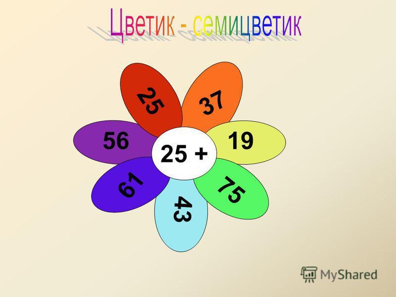 25 25 + 37 19 75 43 61 56