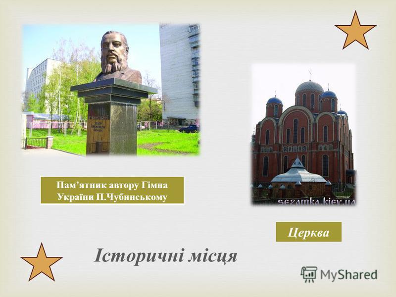 Пам ятник автору Гімна України П. Чубинському Церква Історичні місця