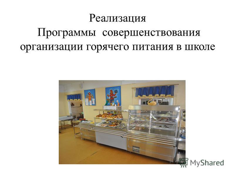 Реализация Программы совершенствования организации горячего питания в школе