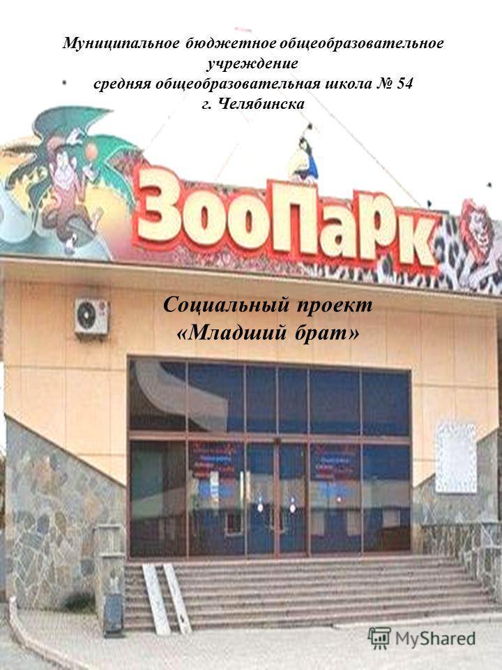 Муниципальное бюджетное общеобразовательное учреждение средняя общеобразовательная школа 54 г. Челябинска Социальный проект «Младший брат»