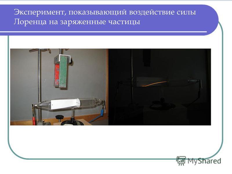 Эксперимент, показывающий воздействие силы Лоренца на заряженные частицы