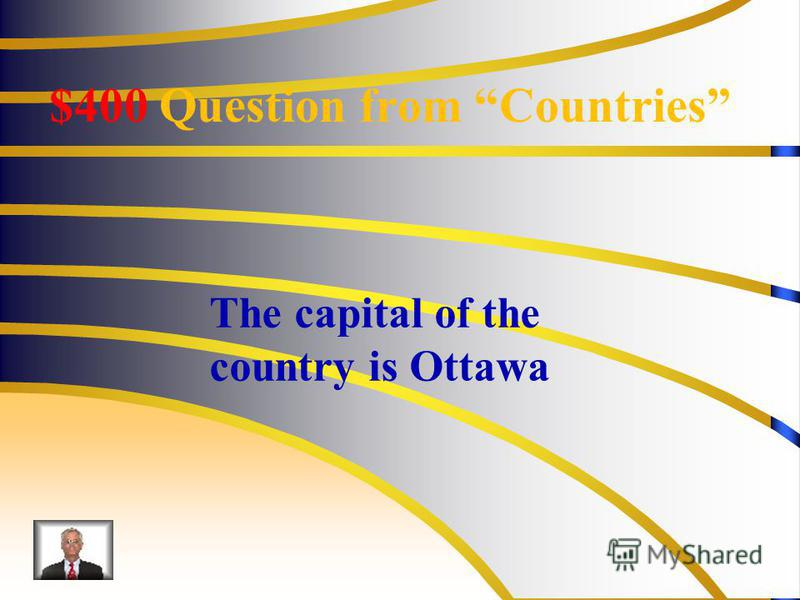 $400 Question from Countries The capital of the country is Ottawa
