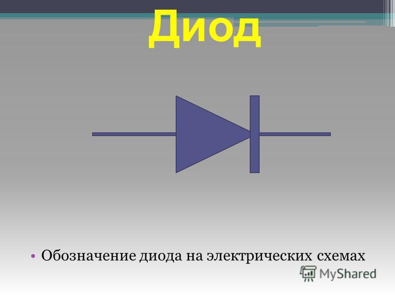 Диод Обозначение диода на электрических схемах