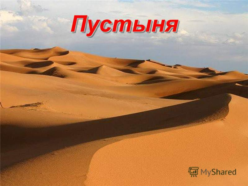 Пустыня Пустыня