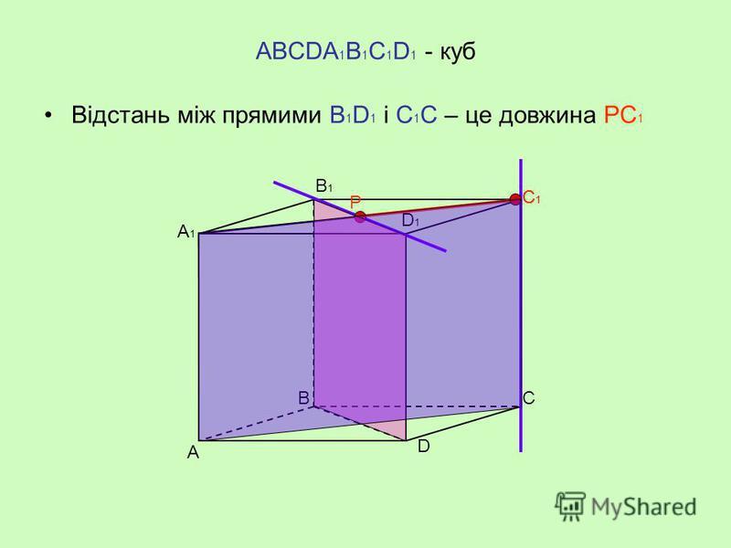 МАВС – правильний тетраедр Відстань між прямими АС і МВ – довжина спільного перпендикуляра ЕF. М А В С Е F