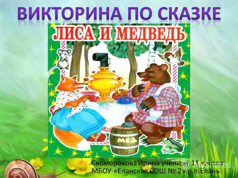 Скоморохова Ирина ученица 11 класса МБОУ «Еланская СОШ 2» р.п.Елань