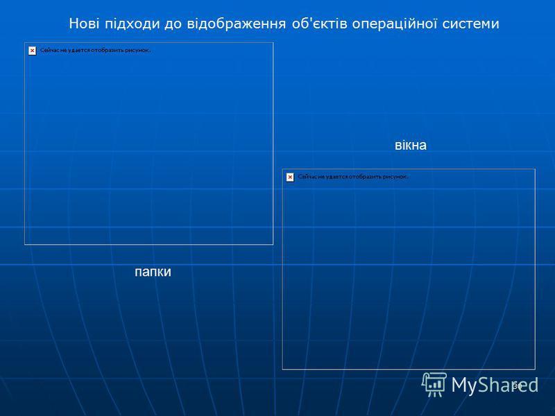 30 Нові підходи до відображення об'єктів операційної системи папки вікна