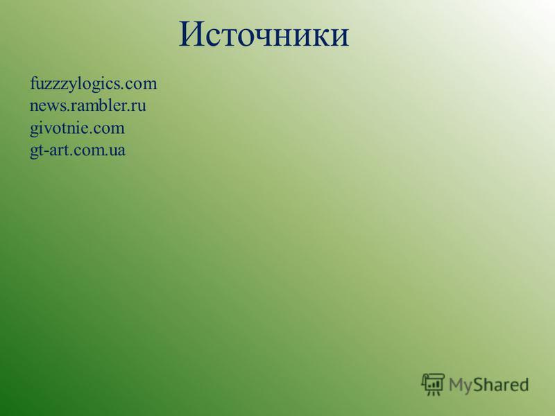 Источники fuzzzylogics.com news.rambler.ru givotnie.com gt-art.com.ua