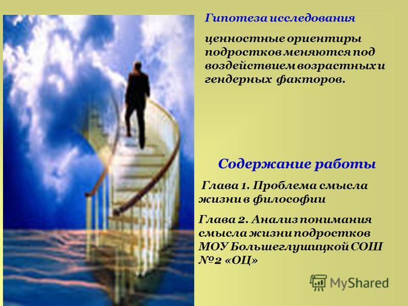 проблема смысла жизни человека реферат