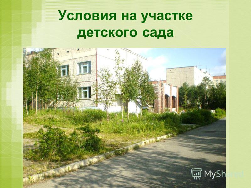 Условия на участке детского сада