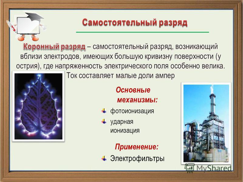 Применение: Электрофильтры Основные механизмы: фотоионизация ударная ионизация