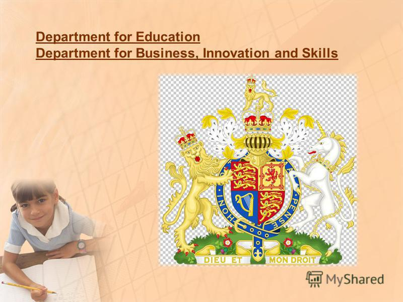 Department for Education Department for Business, Innovation and Skills