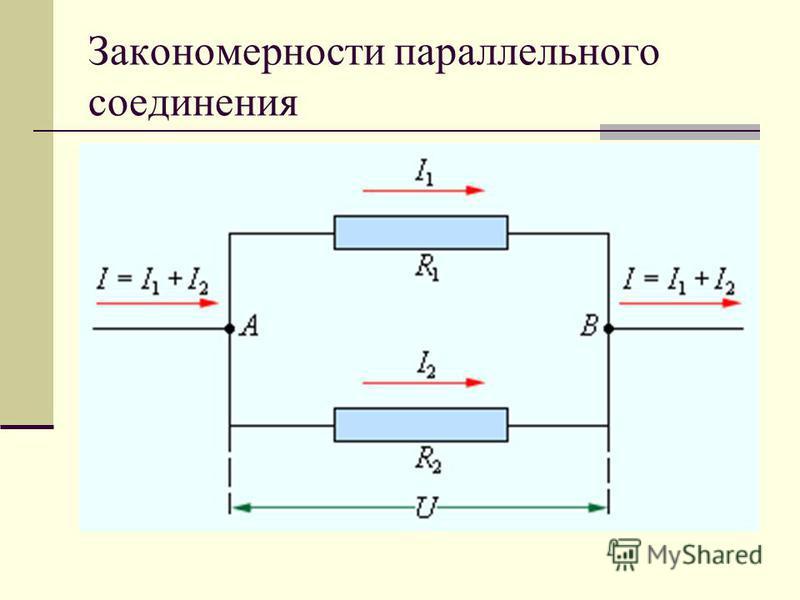 Закономерности параллельного соединения