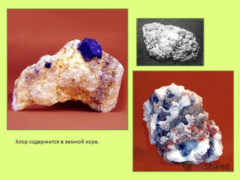 Хлор содержится в земной коре.