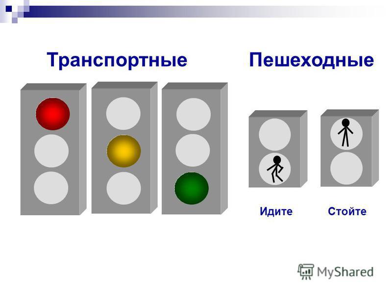Транспортные Пешеходные Идите Стойте