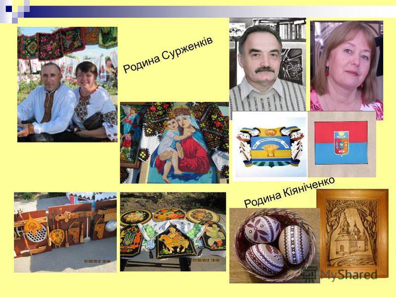 Родина Сурженків Родина Кіяніченко