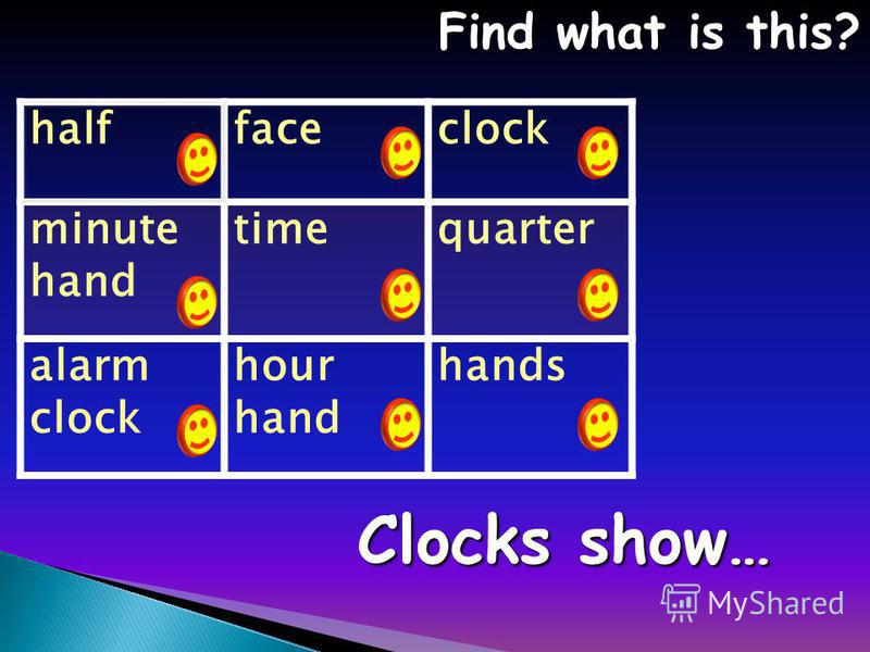 halffaceclock minute hand timequarter alarm clock hour hand hands Find what is this? Find what is this? Clocks show…