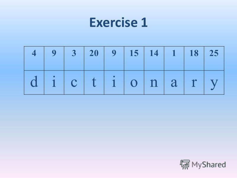 Exercise 1 493209151411825
