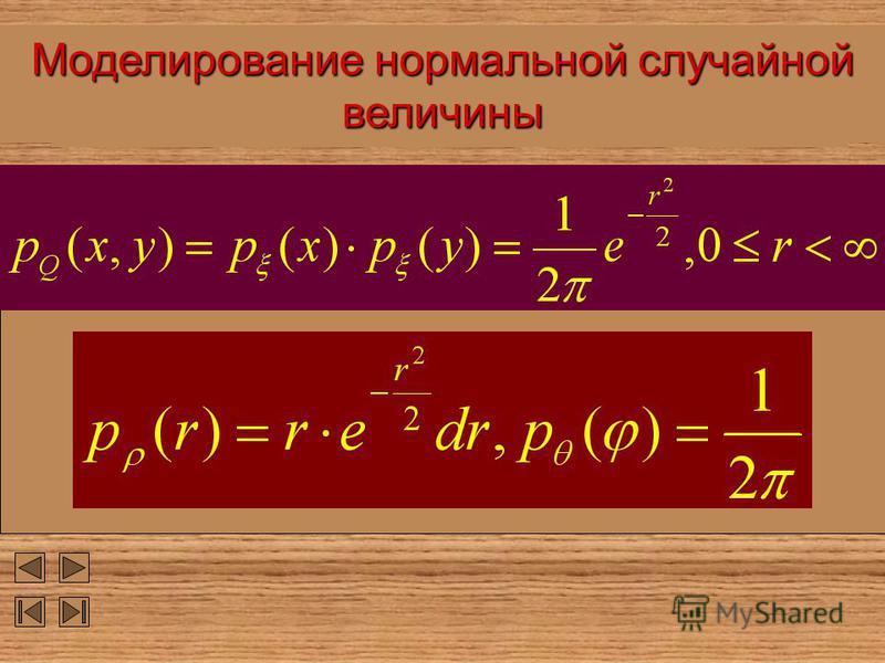 Моделирование нормальной случайной величины