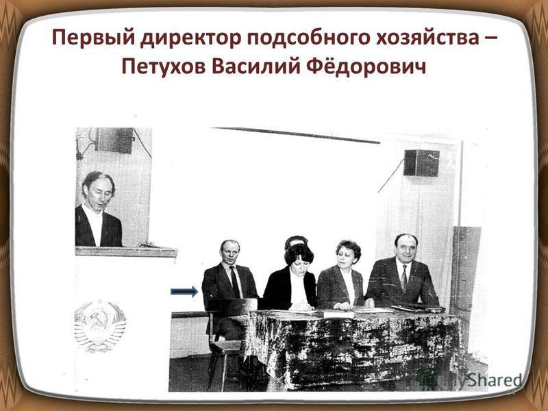 Первый директор подсобного хозяйства – Петухов Василий Фёдорович 14