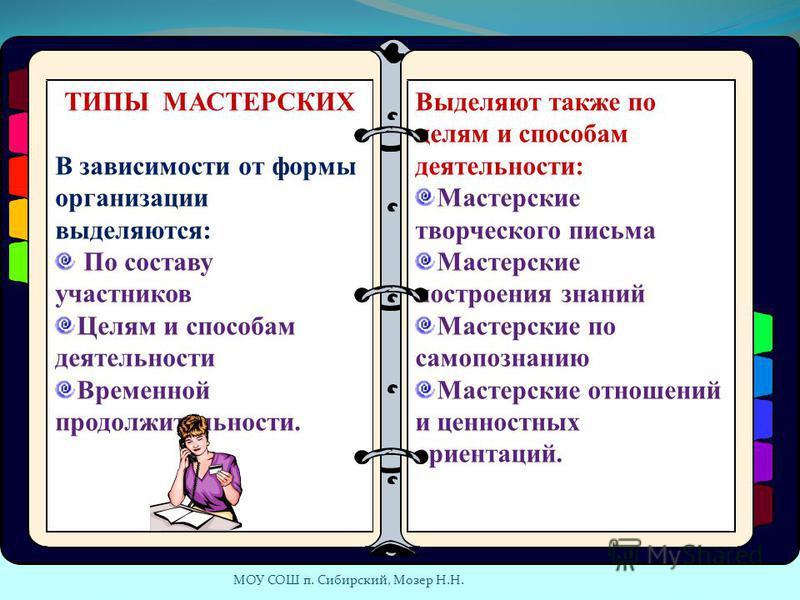 МОУ СОШ п. Сибирский, Мозер Н.Н.