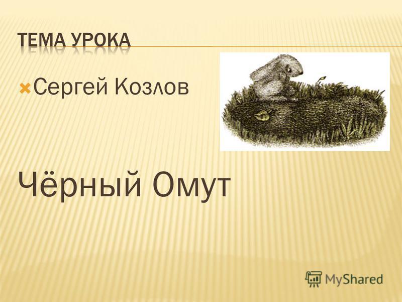 Сергей Козлов Чёрный Омут